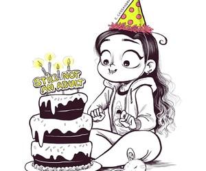 birthday, art, and c-cassandra image