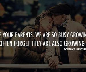 parents, quote, and old image