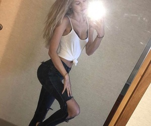 blond, Hot, and selfie image