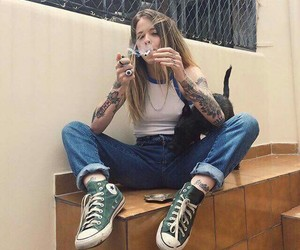 converse, dog, and sexy image