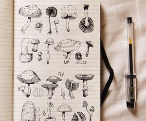 art, black and white, and journal image