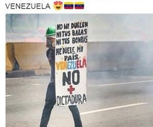 venezuela, resistencia, and protesta image