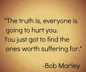 quote, bob marley, and hurt image