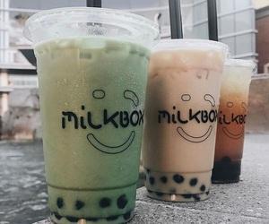boba, bubble tea, and coffee image