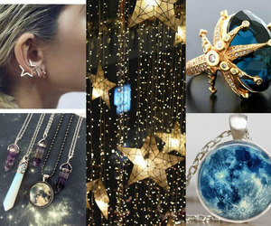 earrings, futuristic, and stars image