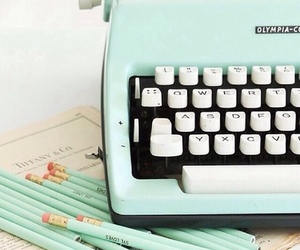 vintage, typewriter, and pastel image