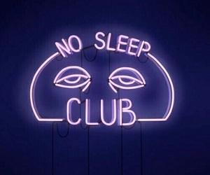 neon, purple, and sleep image