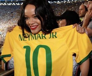 rihanna, neymar, and brazil image