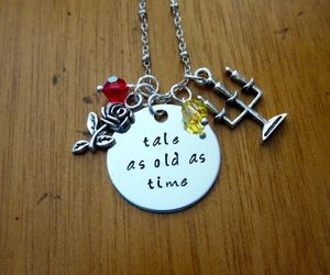 beauty and the beast and necklace image