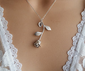 jewelry, shiny, and necklace image