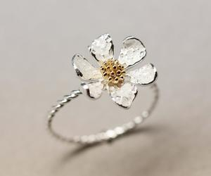 ring, jewelry, and flower image