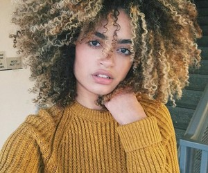 Afro, curly hair, and hair image