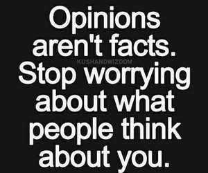 worries, facts, and opinions image