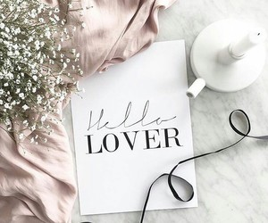 flowers, lovers, and pink image