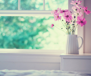 bedroom, bokeh, and flowers image