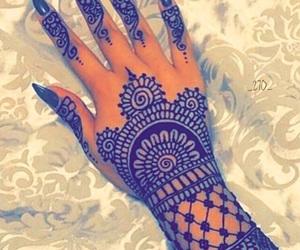 henna, girl, and nails image