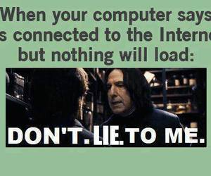 harry potter, internet, and snape image