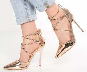 gold, style, and shoes image