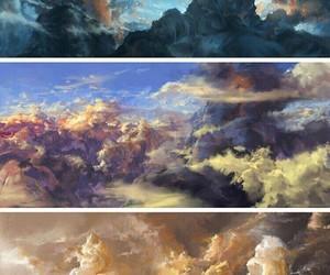 art, beauty, and sky image