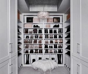 fashion, closet, and shoes image
