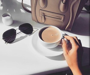 bag, lux, and coffee image