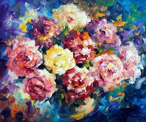 art, Oil Painting, and colors image