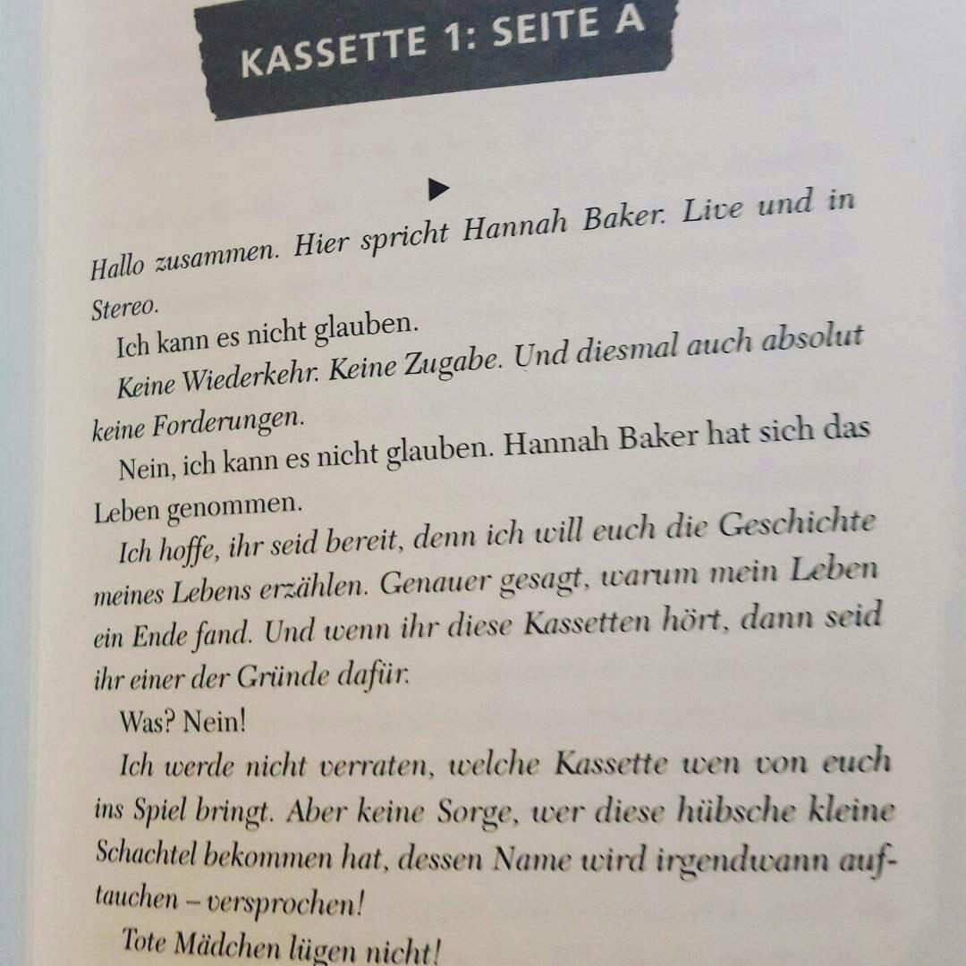 book, hannah baker, and tote mädchen lügen nicht image