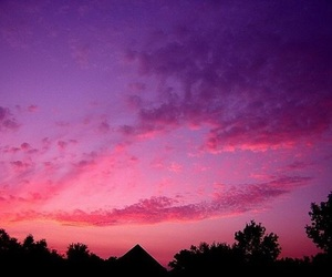bright, pink, and sky image