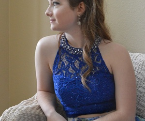 blue dress, homecoming, and Prom image