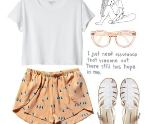 glasses, outfit, and white image