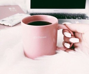 coffee, pink, and nails image