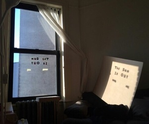 sun, window, and grunge image