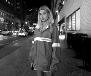 hailey baldwin, model, and supreme image