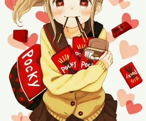 anime, pocky, and kawaii image