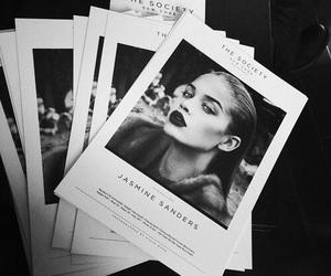 model, black and white, and jasmine sanders image
