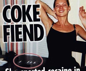 kate moss, cocaine, and coke image