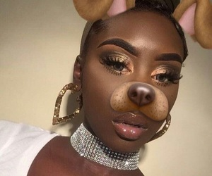 eyebrows, baddie, and eyeshadow image
