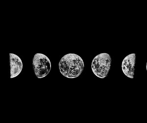 moon, b&w, and background image