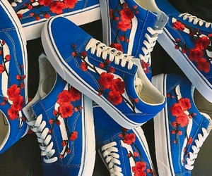 shoes, blue, and vans image