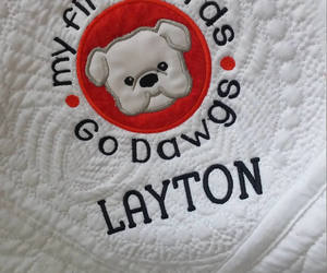 bulldogs, blanket for baby, and etsy image