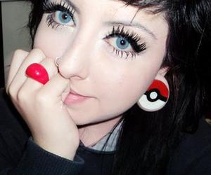 girl, piercing, and pokemon image