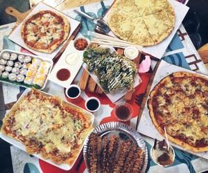 food pizza sushi image
