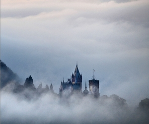 background, castle, and cloud image