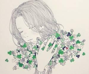 art, girl, and いらすと image