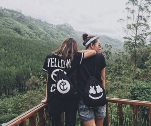 nature, bestfriends, and marshmello image