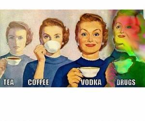drugs, tea, and vodka image
