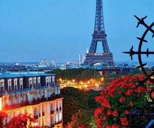 eiffel tower, paris, and beautiful nature image