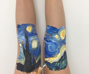art, legs, and painting image