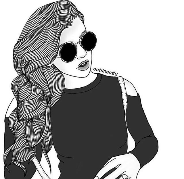 Black And White Girl Drawing Www Pixshark Com Images