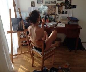 artist, beauty, and smoking image